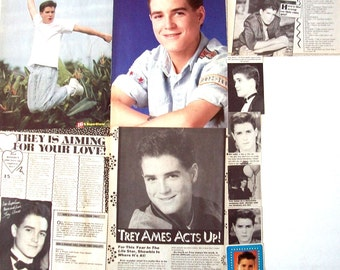 TREY AMES ~ A Year In The Life, Dolphin Cove, After The Promise, David Sisk ~ Color and B&W Clippings, Articles, Pin-Ups  from 1988