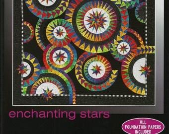 "Jacqueline de Jonge ""Enchanting Stars"" Paper Pieced Quilt Pattern Be Colourful DIY Quilting Foundation Piecing"