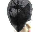 Black Cloche Satin Handmade Hat Church Mother of the Bride Prom Ascot Fashion Derby Races Designer Art Deco Custom Made for Each Client