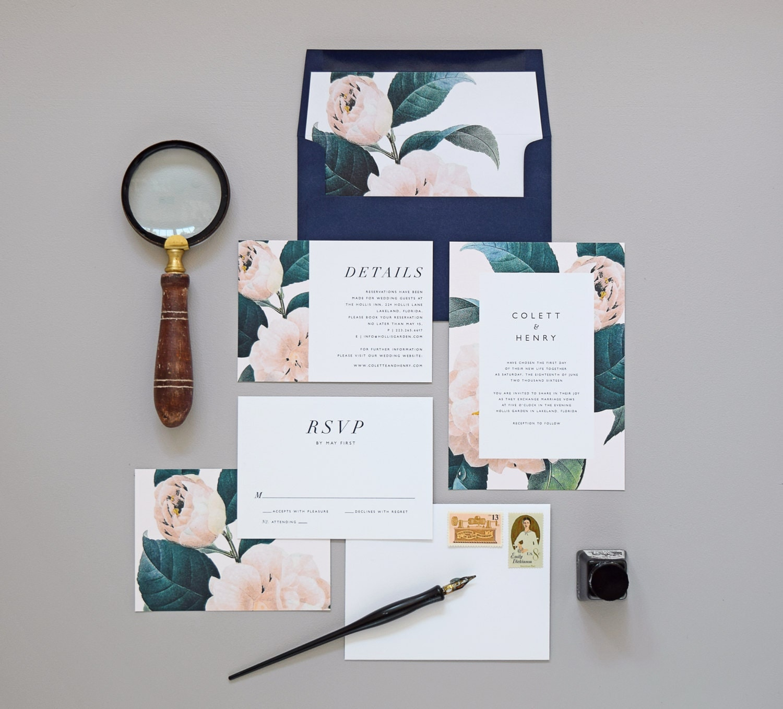 Jardin wedding invitation correspondence by for Au jardin wedding