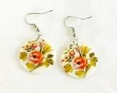 Rose Garden Shell Earrings