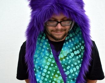 Purple Wolf Rave Hat