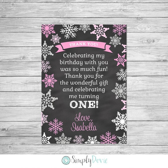 Winter ONEderland II Chalkboard Thank you Printable by Simply Dovie ...