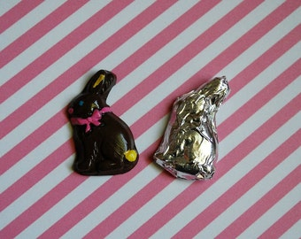 Miniature Chocolate Easter Bunny (Playscale 1:6 scale Mini Doll Dollhouse) Rabbit Springtime Spring Holiday