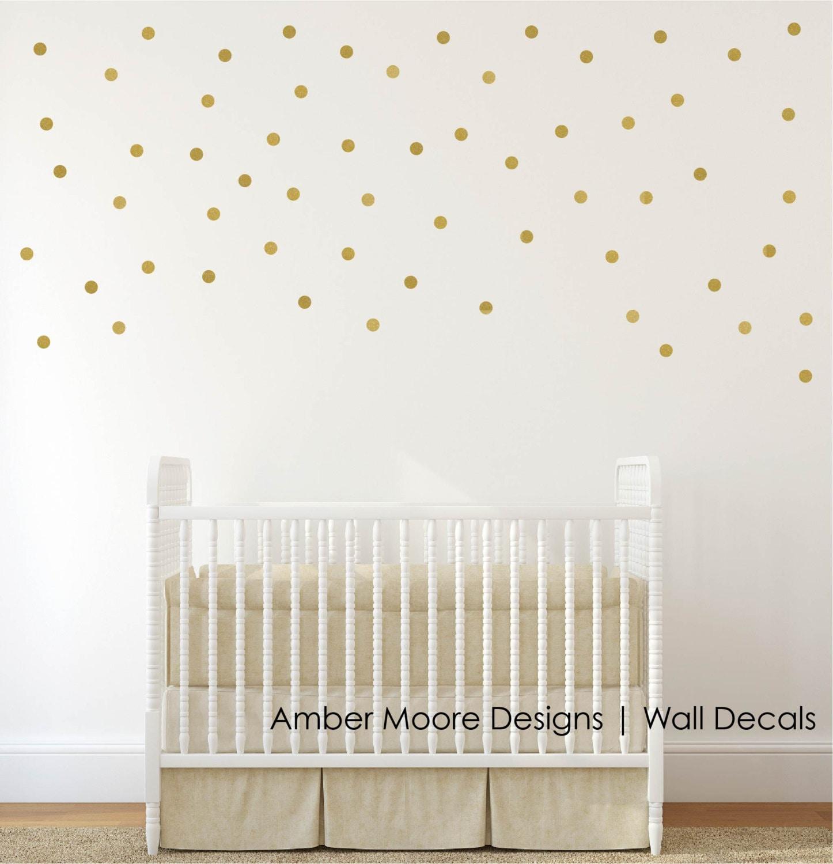 Gold Polka Dot Wall Decals Confetti Polka Dot Wall Decals
