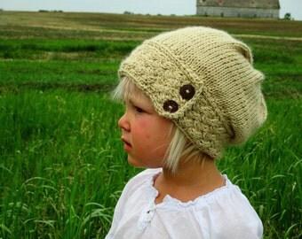 KNITTING PATTERN PDF Slouch Hat - Knit pattern slouch hat - Baby slouch hat - Adult slouch hat - Knit slouch hat