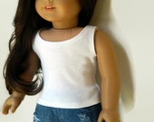 reserved for Jackie - American Girl Doll Clothes - White Cotton Knit Tank Top