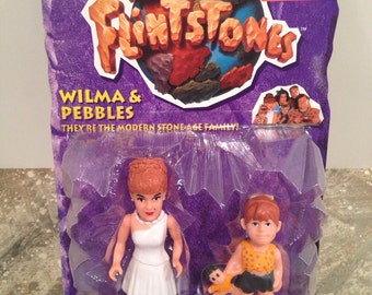 Wilma and Pebbles 1993 Figurines