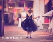 Black Flower girl dress little black dress tutu dress bridesmaid dress princess dress crochet top tulle dress hand knit top tutu dress