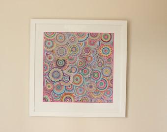 """Framed Print """"Paisley Fleurs"""""""