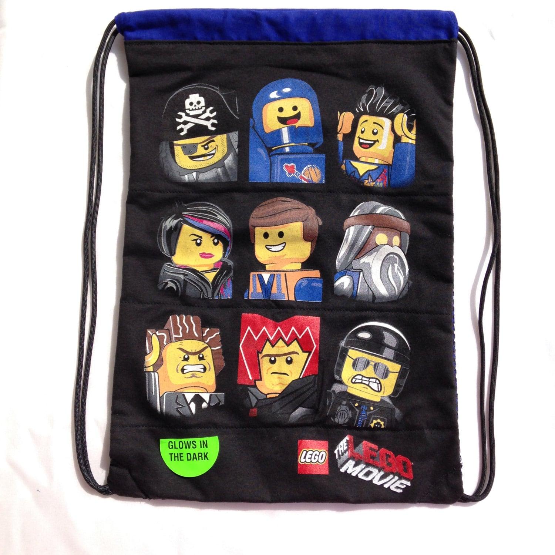 the lego movie drawstring backpack lego bag lego drawstring. Black Bedroom Furniture Sets. Home Design Ideas