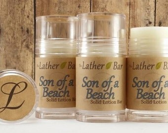 Cocoa Butter Lotion Bar - Hand Lotion - Body Lotion Stick - Shea Butter Moisturizer - Dry Skin Care - Son of a Beach Solid Lotion