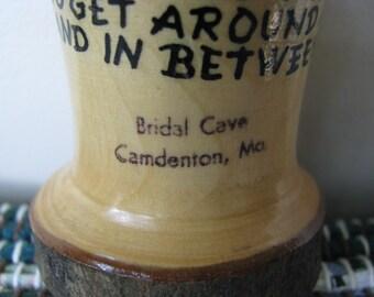 Bridal Cave, Tooth Pick Holder, Camdenton, MO Vintage