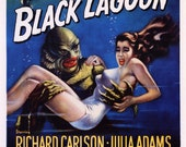 Creature from the Black Lagoon Movie Poster, Classic 1950's Horror Film