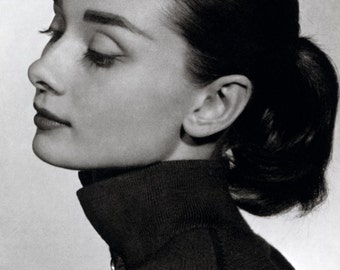 Audrey Hepburn Poster, Beautiful Actress, Film and Fashion Icon, Humanitarian, Hollywood, Golden Age