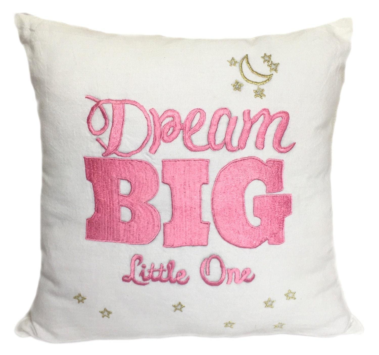 dream big little one pillow girl 39 s room pillows nursery. Black Bedroom Furniture Sets. Home Design Ideas
