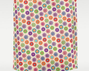 Flowers Shower Curtain, Large Shower Curtain, Colorful Shower Curtain,  Designer Shower Curtain,