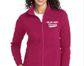 Ladies Micro Fleece Ask Me About Plexus Jacket Plexus Swag 223