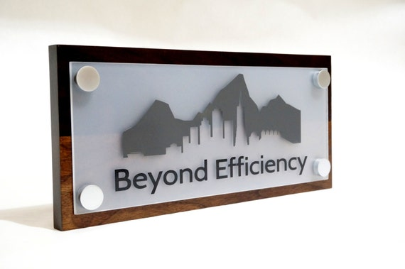 Office Name Plates: Office Sign For Door Or Wall Personalized With By GaroSigns