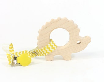 Wooden Teether Hedgehog Toy Wooden Teething Ring Teething Toy Baby Shower Gift Baby Teether Baby Gift Wood Teether Baby Toy Wooden Ring
