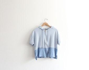 Wide Striped 90s Hooded Sweatshirt