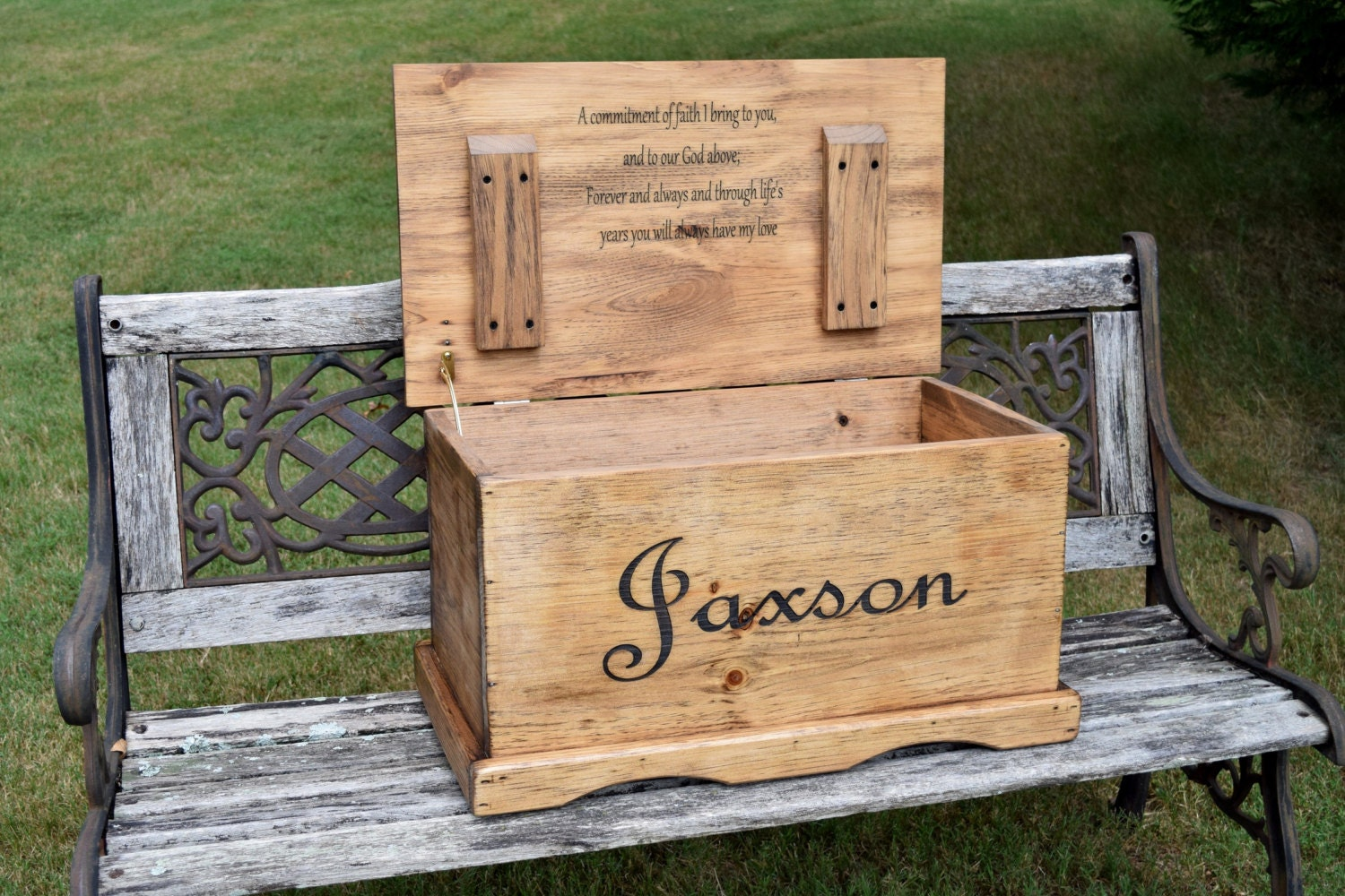 Large Kids Toy Chest With Inside Lid Engraving Keepsake Box