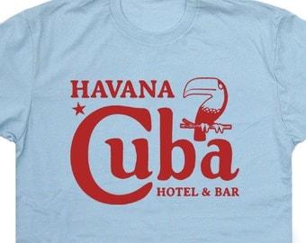 Cuba T Shirt Havana Cuba Shirts Bar T Shirt Beer T Shirt Vintage Cuba T Shirts Che Guevara T Shirt Che Guevara Shirts Cuban T Shirt