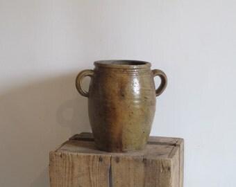 Antique Large French Pottery stoneware Jar
