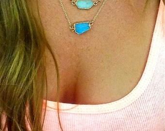 The Dainty Druzy Stone Necklace