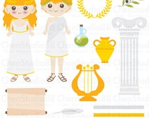 Greek vector - Digital Clipart - Instant Download - EPS, Pdf and PNG files included