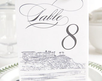 Laguna Beach Skyline Table Numbers (1-10)