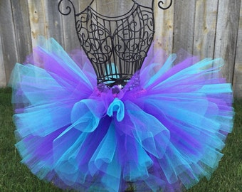 Aqua Purple Tutu, Baby Tutu, Infant Tutu, Toddler Tutu, Newborn Tutu, Birthday Tutu, Dance Tutu, Bubble Guppies Tutu, Purple and Aqua Tutu