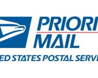 Priority Mail, rush fee and overnight Upgrades