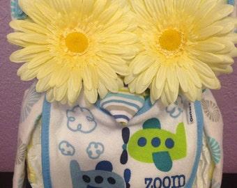 Owl Diaper Cake / Owl Baby Shower