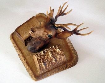 Deer head / vintage plastic hunting trophy TILOR made in France