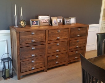 Reclaimed Wood Sideboard, Rustic Buffet Table, Entryway Table
