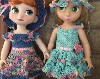 2 Crochet Dress Pattern Sets for DAC (Disney Animator Dolls)