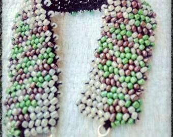 Handmade bead crochet bracelet