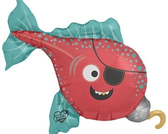 "14"" Self-Sealing Pirate Fish Balloon"
