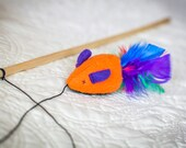 Feather Mouse Cat Teaser- Choose Color