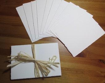 "Arches 140 lb. Cold Press WATERCOLOR PAPER ~ 10 hand torn sheets ~ 5"" x 7.5"""