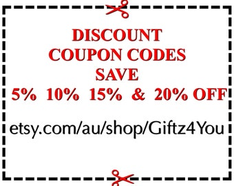 Discount Coupon Codes - Not For Sale