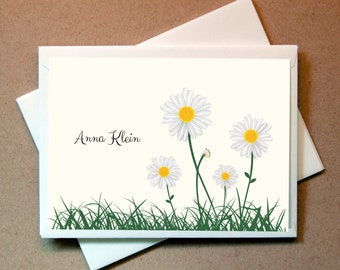 Daisies Personalized Note Card (15 cards and envelopes)