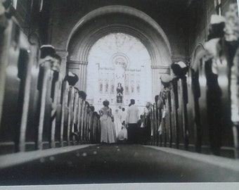 Vintage Church wedding photo 1962