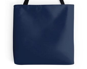Navy blue tote | Etsy