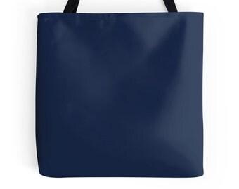 Navy tote bag | Etsy