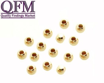 100 pcs Gold Filled 1/20 12K Spacer Beads, sizes 2mm, 2.5mm, 3mm and 4mm
