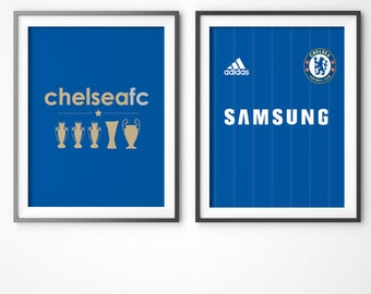 Chelsea FC Posters! -digital file, INSTANT DOWNLOAD! wall decor