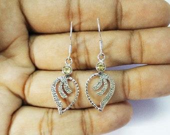 Beautiful NATURAL CITRINE Gemstone Earrings, Birthstone Earrings, 925 Sterling Silver Earrings, Fashion Handmade Earrings, Dangle Earrings