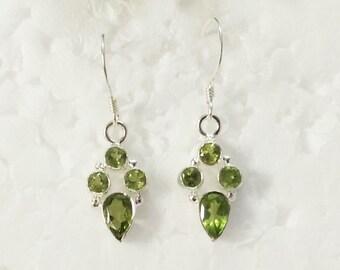 Beautiful NATURAL PERIDOT Gemstone Earrings, Birthstone Earrings, 925 Sterling Silver Earrings, Fashion Handmade Earrings, Dangle Earrings